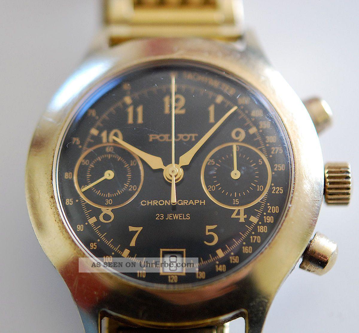 Poljot,  Chronograph - 23 Jewels,  Herrenuhr,  Sammlerstück,  Udssr / Cccp Armbanduhren Bild