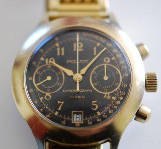 Poljot,  Chronograph - 23 Jewels,  Herrenuhr,  Sammlerstück,  Udssr / Cccp Bild