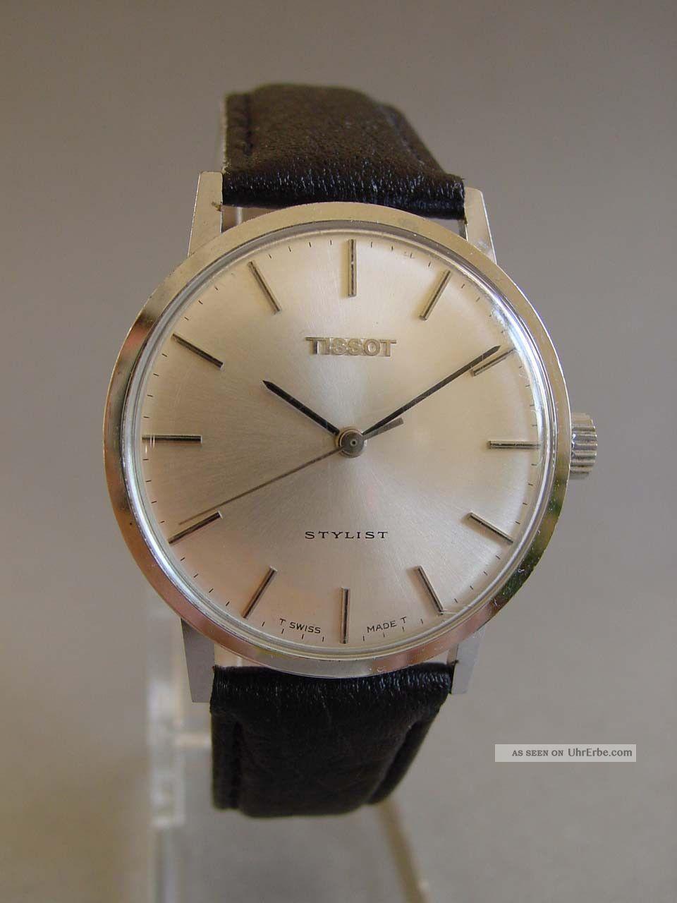 Tissot Stylist Herrenuhr Ca.  1970,  Läuft Gut Armbanduhren Bild