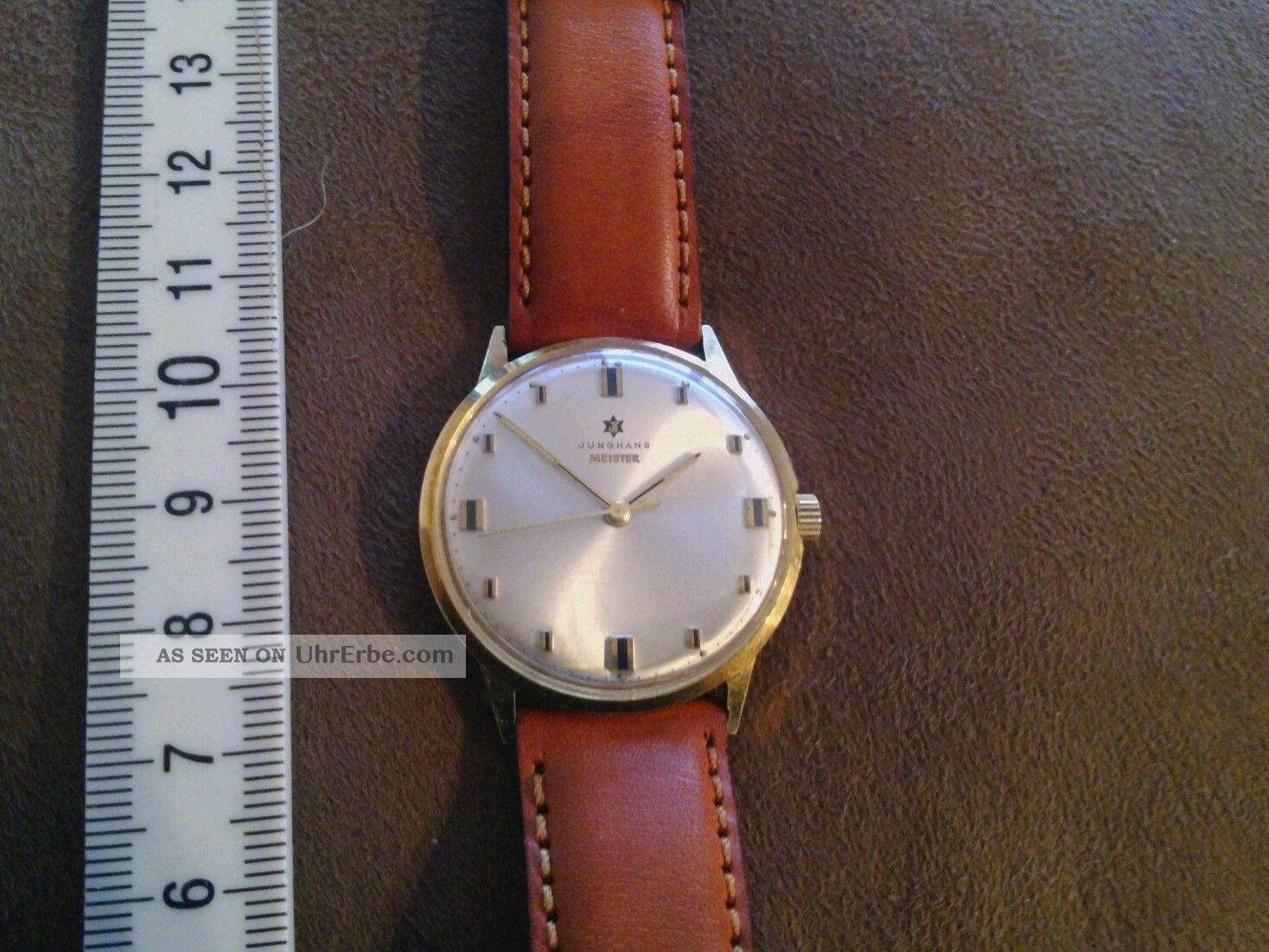 Junghans Meister.  Handaufzug Cal.  685 Feinregulierung Armbanduhren Bild