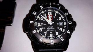 Luminox 6400 F - 117 Nighthawk 6400 Serie Herren Schwarz Stahl Gebürstet Uhr Bild