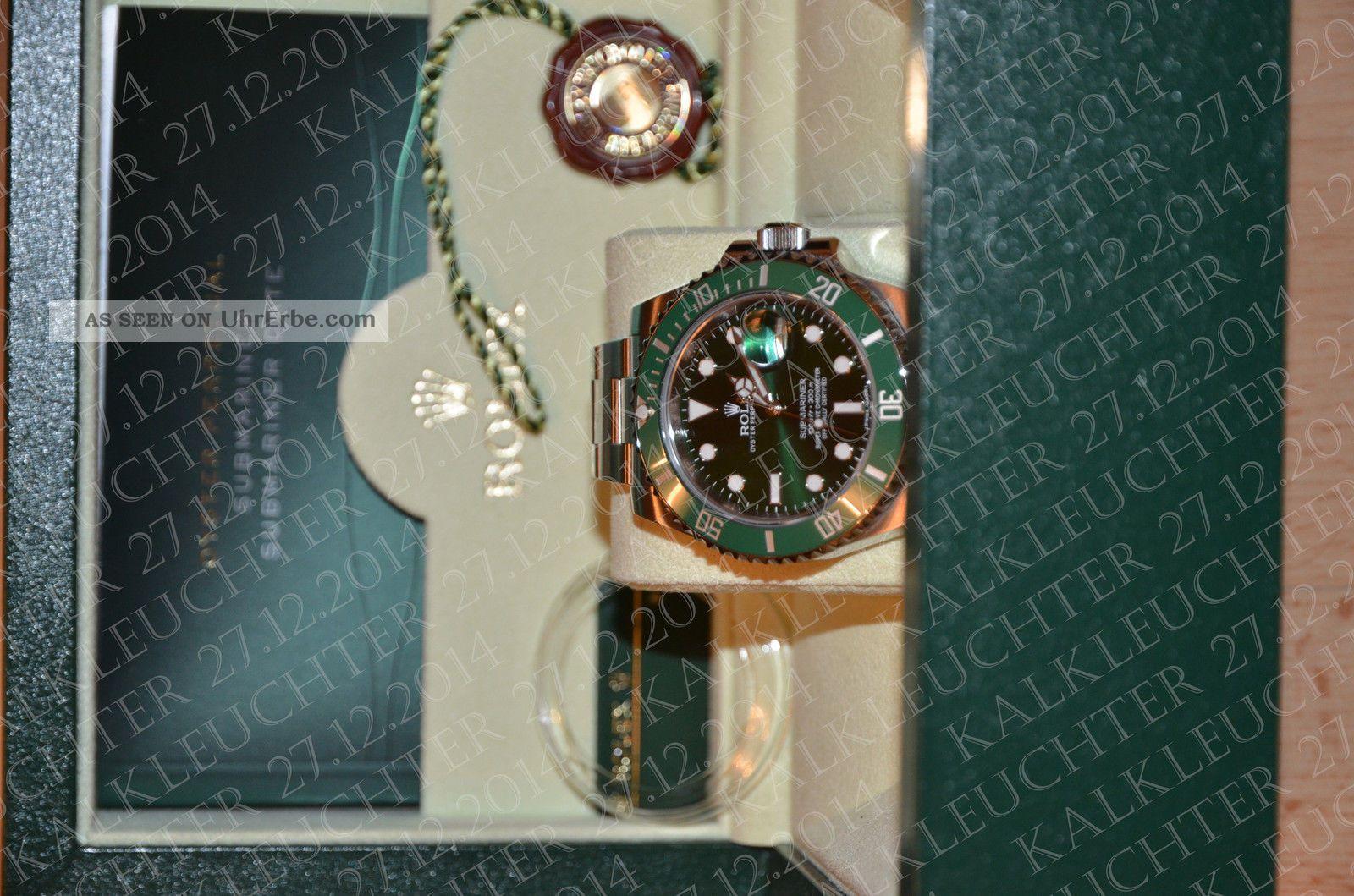 Rolex Oyster Perpetual Submariner Date Armbanduhr Für Herren (116610lv) Armbanduhren Bild