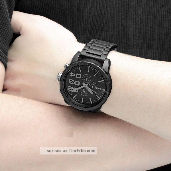 Diesel Herren - Armbanduhr Xl Franchise - 51 Chronograph Quarz Edelstahl Dz4207 Armbanduhren Bild