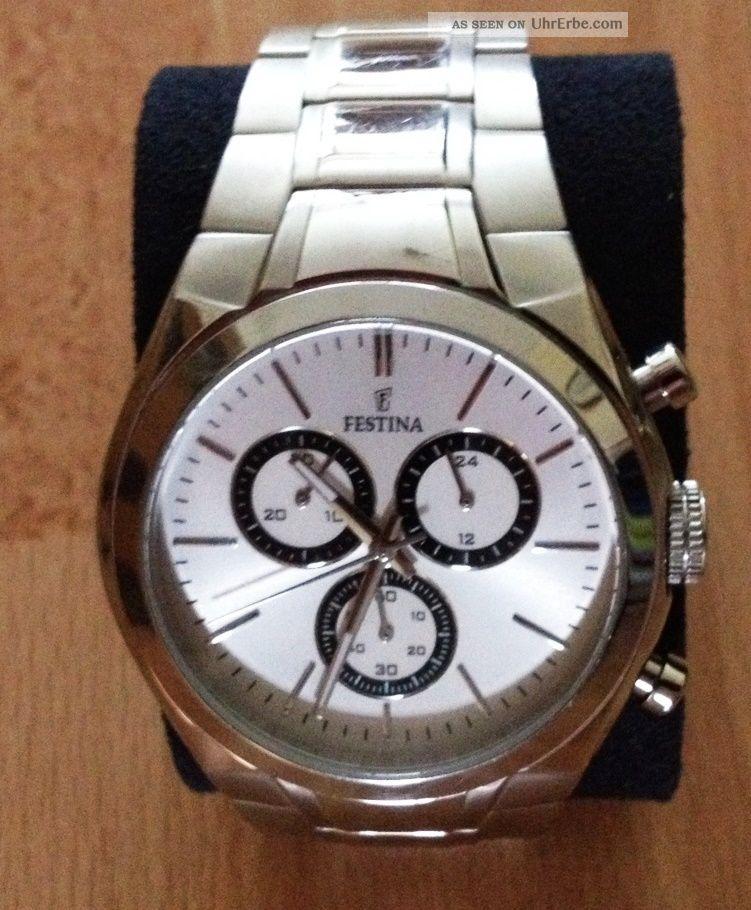 Festina Sport Chronograph Armbanduhr F16782/2 Herrenuhr Armbanduhren Bild