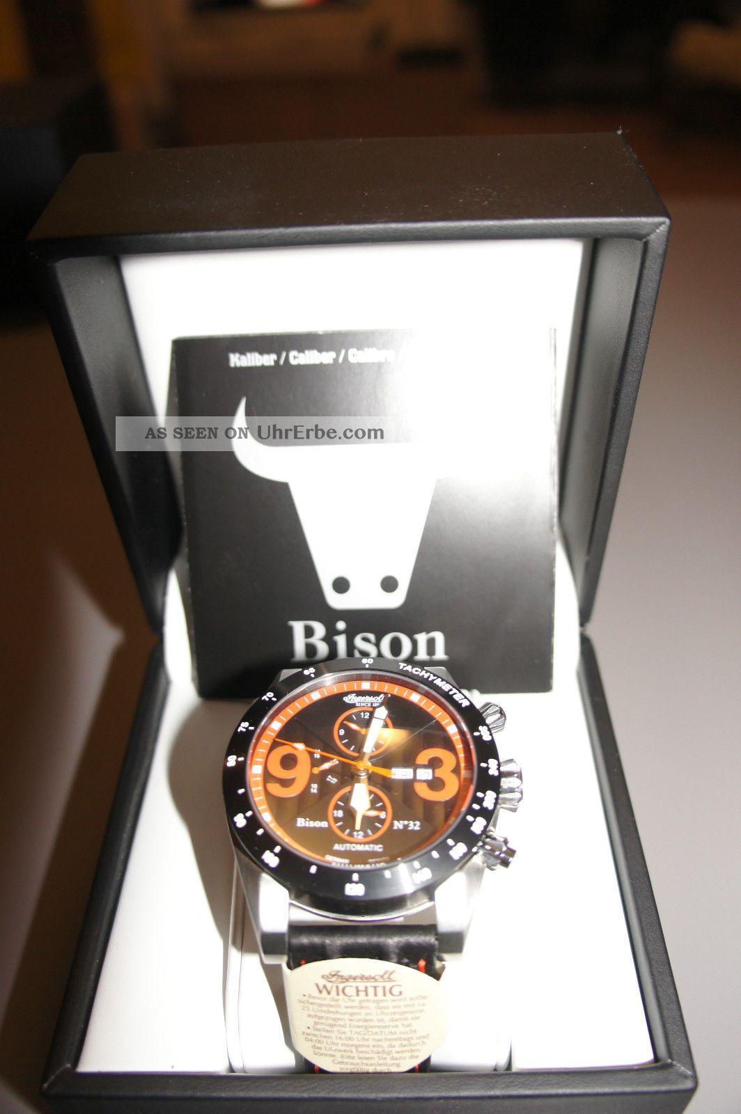 Ingersoll Bison No 32 Armbanduhr Für Herren (in1620bkor) Armbanduhren Bild