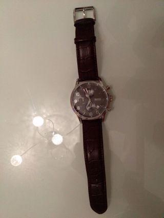 Boss Chronograph Mit Lederarmband Uhr Wie Bild