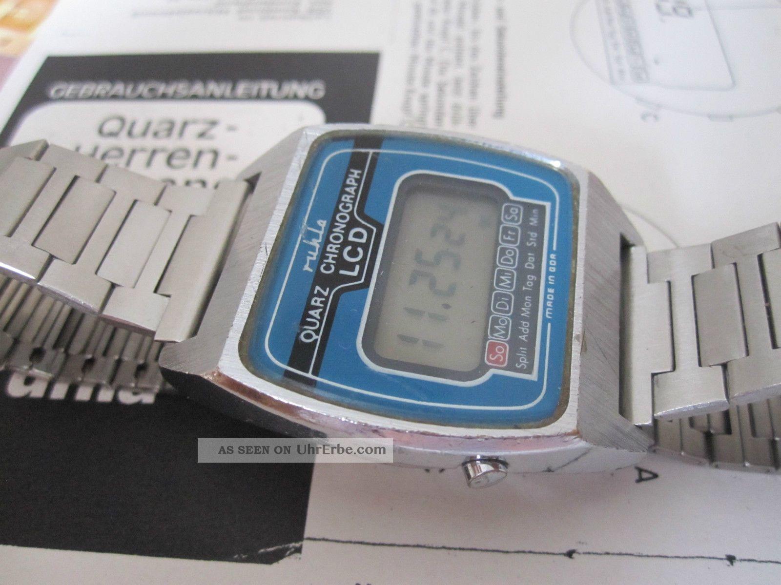 Ruhla Lcd Digital Ddr Quartz Uhr Mit Metallband Kaliber 22 ...