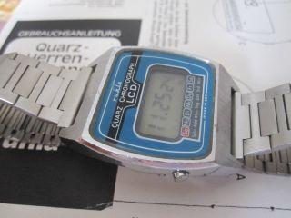 Ruhla Lcd Digital Ddr Quartz Uhr Mit Metallband Kaliber 22 - 01 Bild