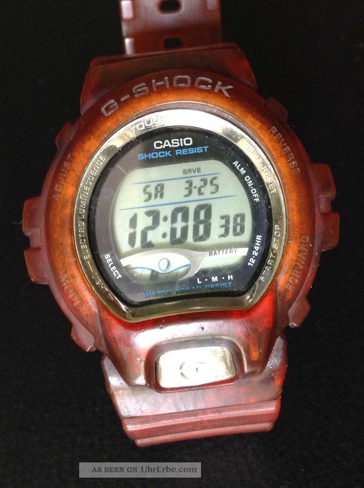 Herrenuhr Gl - 220 Vintage Casio G - Shock Touch Solar Lcd Quartz Armbanduhren Bild