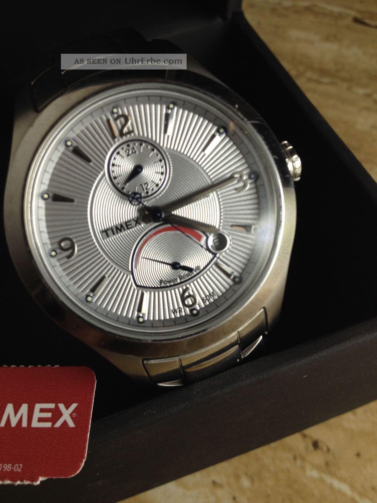 Timex T2m979 T - Series Chronograph Herrenuhr Edelstahl Reserve Wie & Ovp Armbanduhren Bild