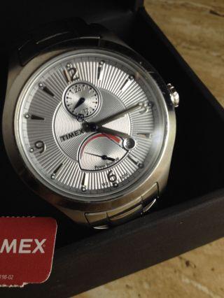 Timex T2m979 T - Series Chronograph Herrenuhr Edelstahl Reserve Wie & Ovp Bild