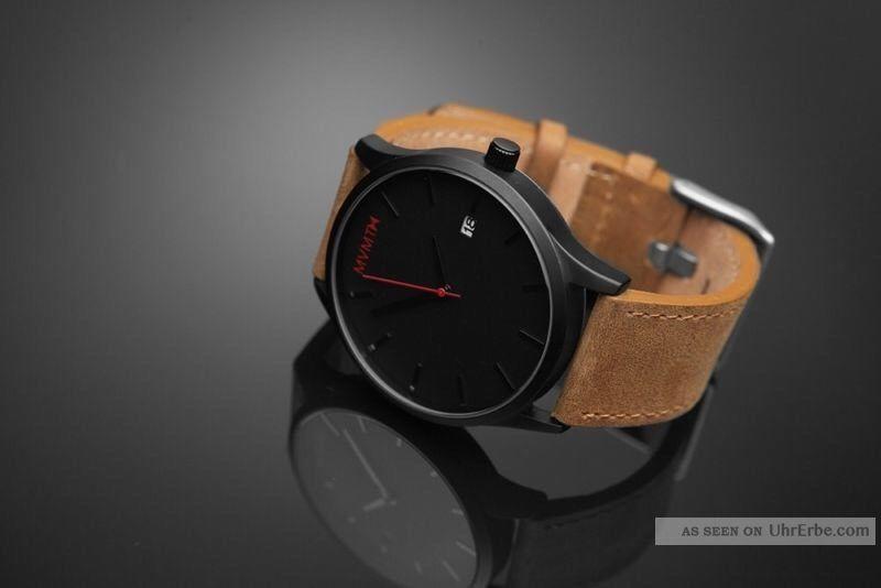 Mvmt Armbanduhr Für Herren In Schwarz/braun - Black/tan Leather - Usa Import Armbanduhren Bild