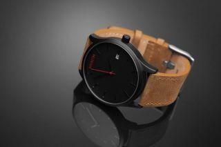 Mvmt Armbanduhr Für Herren In Schwarz/braun - Black/tan Leather - Usa Import Bild