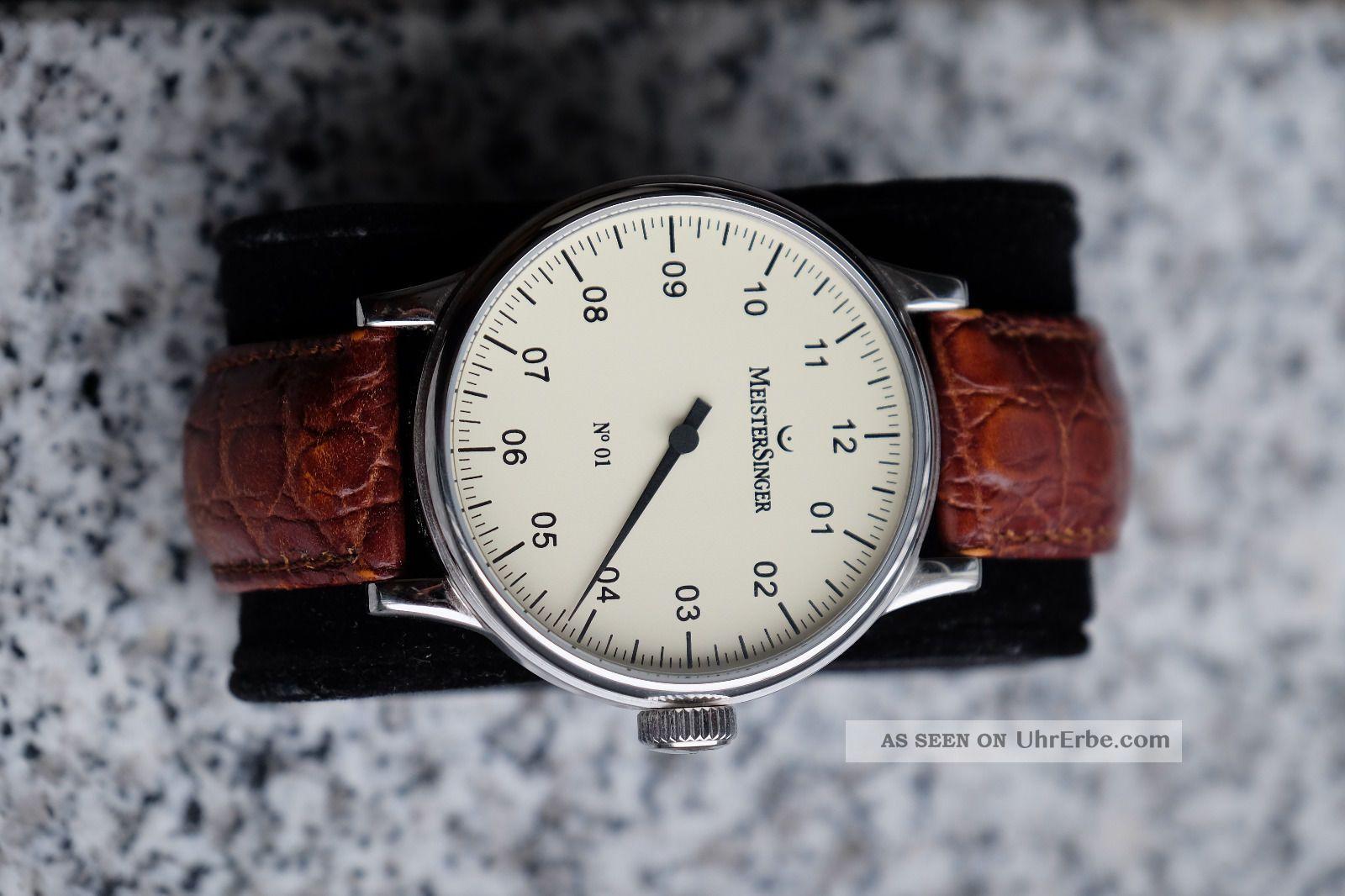 Meistersinger No.  1 Einzeigeruhr In Neuwertigem (am303) Armbanduhren Bild
