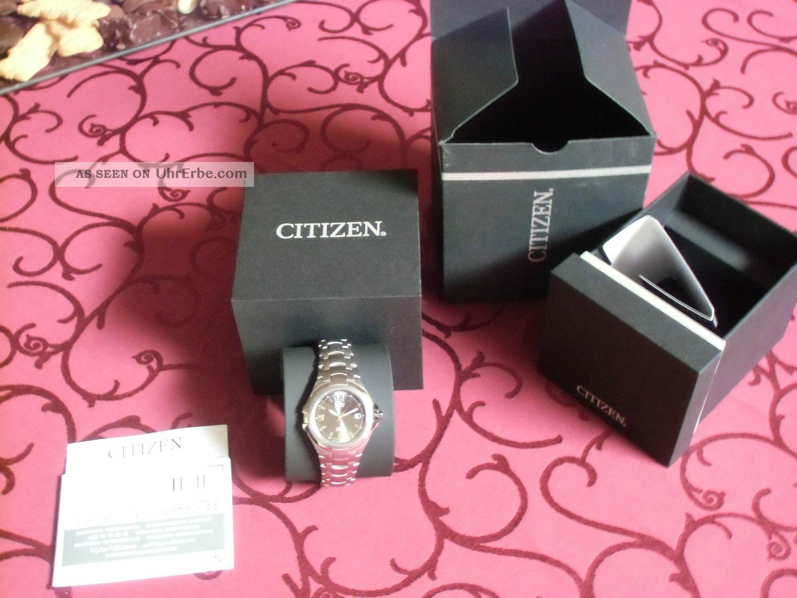Herrenuhr Citizen Eco - Drive Titanium Sapphire Armbanduhren Bild