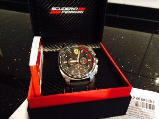 Scuderia Ferrari Chronograph Aero Evo Schwarz Ovp Uhr Herren Bild