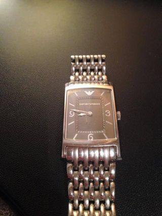 Emporio Armani Ar0149 Classic Herren Uhr Edelstahl Gents Watch Montre Orologio Bild