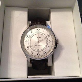 Neue Gant Herren - Armbanduhr Quarz Leder W70472 Ovp Mit Rechnung 11/2014 Bild