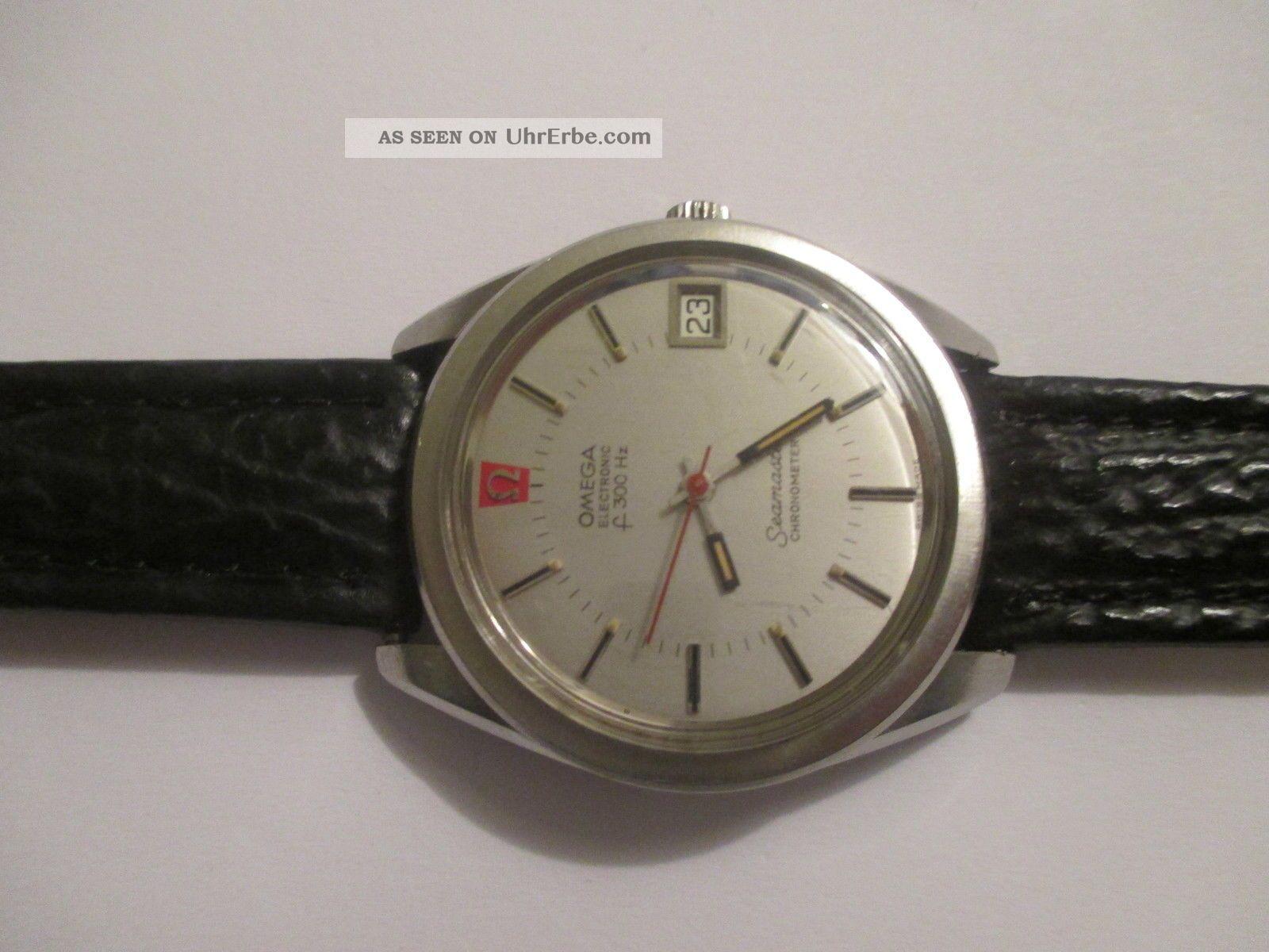Vintage Omega Seamaster Electronic F 300 Hz Chronometer - Stimmgabel Edelstahl Armbanduhren Bild
