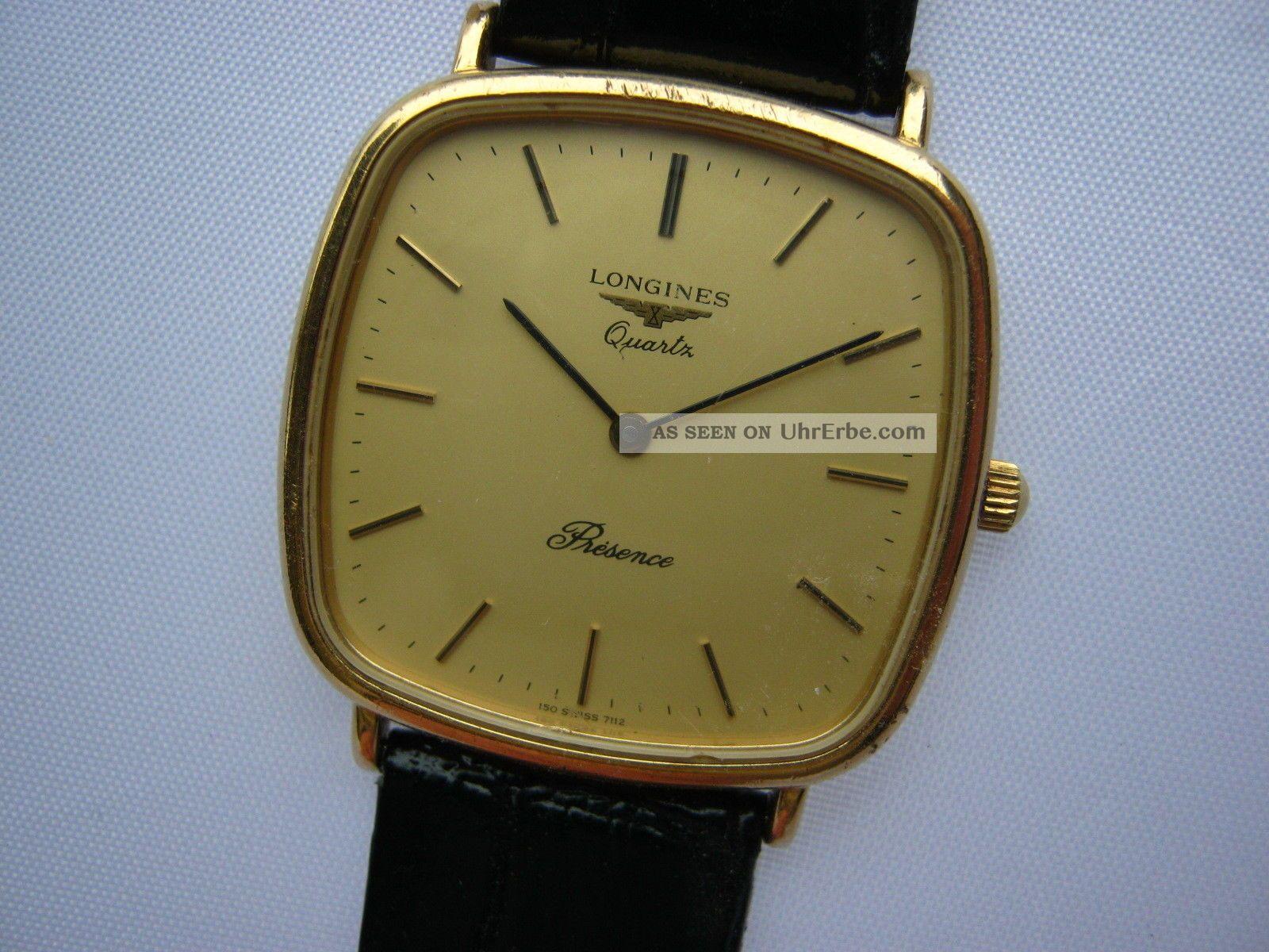 Longines Présence 7112 - Swiss 1970 ' S Armbanduhren Bild