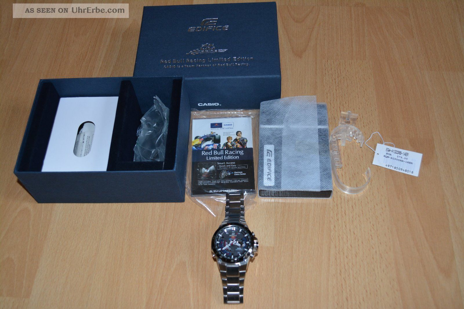 Casio Edifice Red Bull Limited Edition Alarm Chronograph Watch Eqw - A1000rb - 1aer Armbanduhren Bild