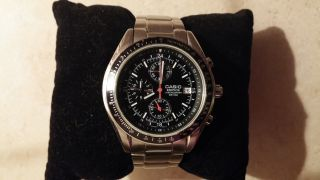 Casio Edifice Ef - 503d - 1avef Chronograph Herren Armbanduhr Tachymeter Analog Bild
