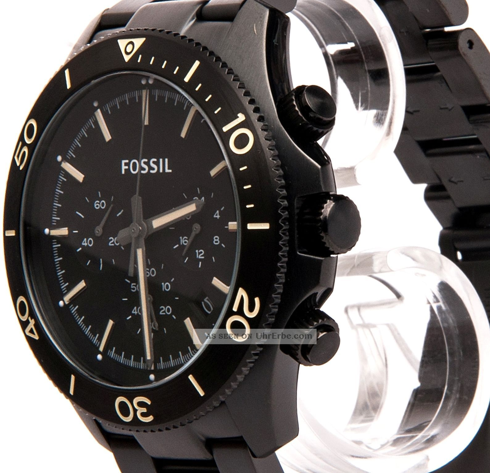 fossil edelstahl herren chronograph chrono uhr schwarz ch2915. Black Bedroom Furniture Sets. Home Design Ideas