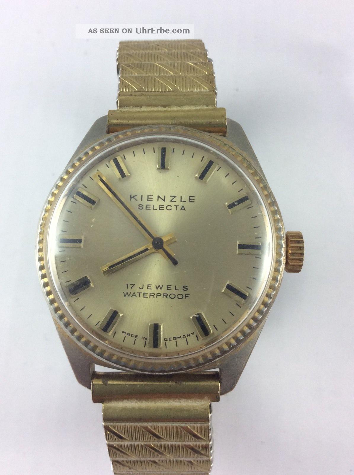 Kienzle Selecta 17 Jewels Kal 058b11 Rare Selten Toller Armbanduhren Bild