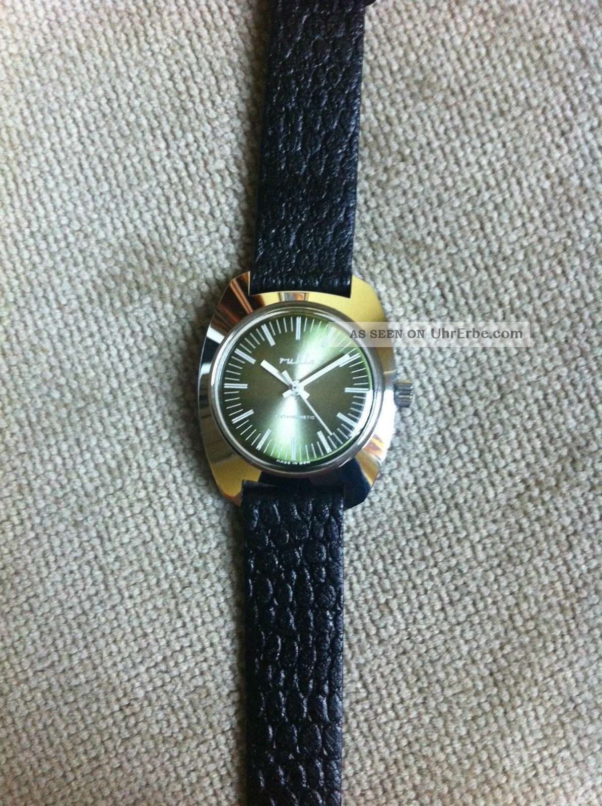 Ruhla Uhr Herrenuhr,  Ungetragen Nos,  Vintage Ddr,  70er 80er Jahre Armbanduhren Bild