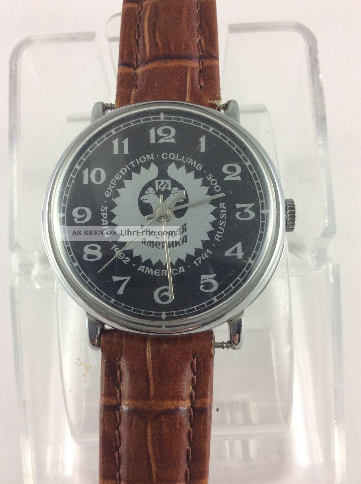 Wunderschöne Russische Hau Friedensuhr Rare Top Selten Armbanduhren Bild