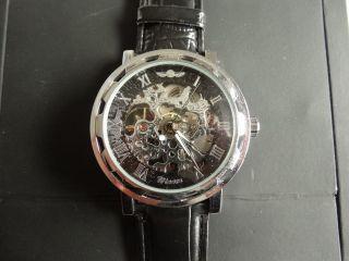Herren Automatik Armbanduhr Skelett Bild