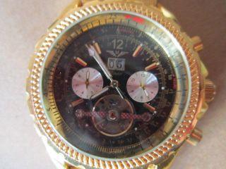 Schöne Minoir Automatik - Uhr,  Ungetragen Ip - Vergoldet,  Aus Sammlung Bild