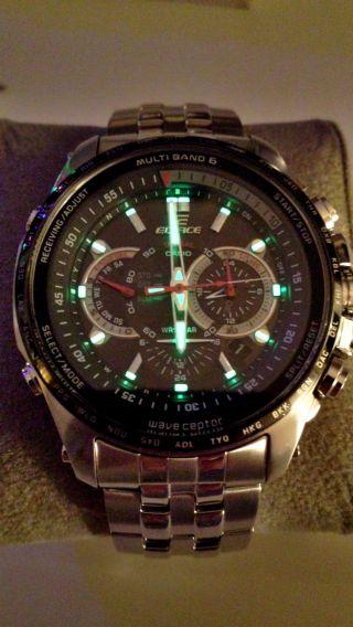 Casio Edifice Wave Ceptor Eqw - M710db - 1a1er Armbanduhr Funk / Solar Chronograph Bild