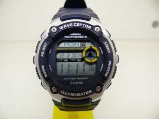 Casio Wv - 200e 3139 Funkuhr Wave Ceptor Herren Armbanduhr World Time Bild