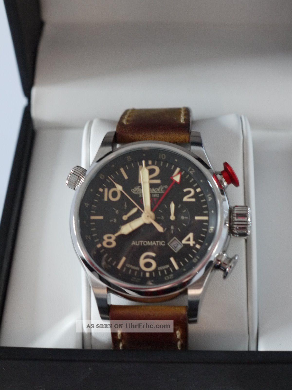 Ingersoll Lawrence Gmt Herren Automatikuhr In3218bk Limited Edition Armbanduhren Bild