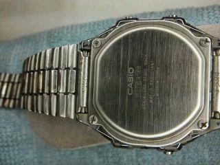 Casio Herren Uhr Alarm Chronograph Edelstahl Nr.  A168 Sammlung Läuft, Bild