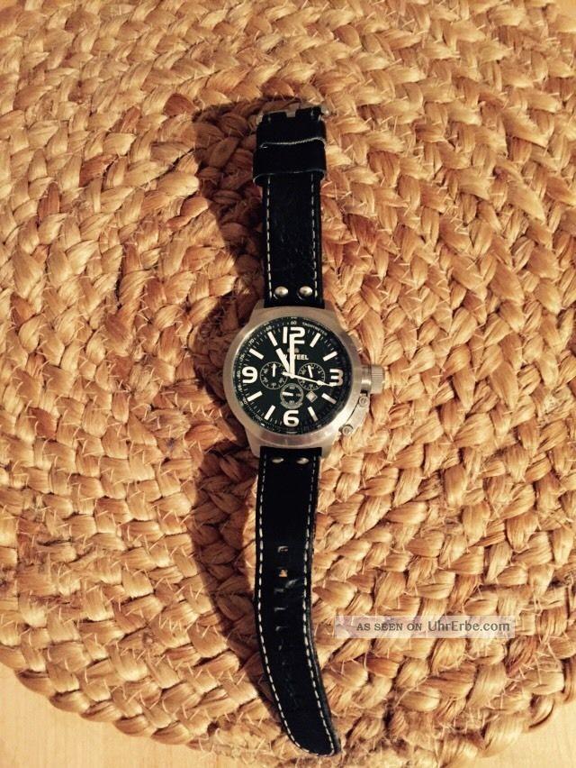 Tw Steel Uhr Chronograph Lederarmband Schwarz Armbanduhren Bild