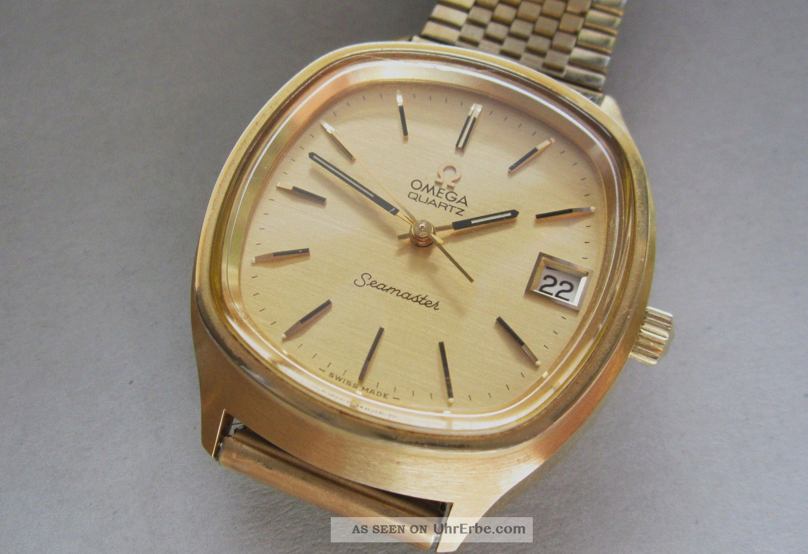 Omega Seamaster Armbanduhr Kaliber 1315 Quartz Herren Armbanduhr Armbanduhren Bild