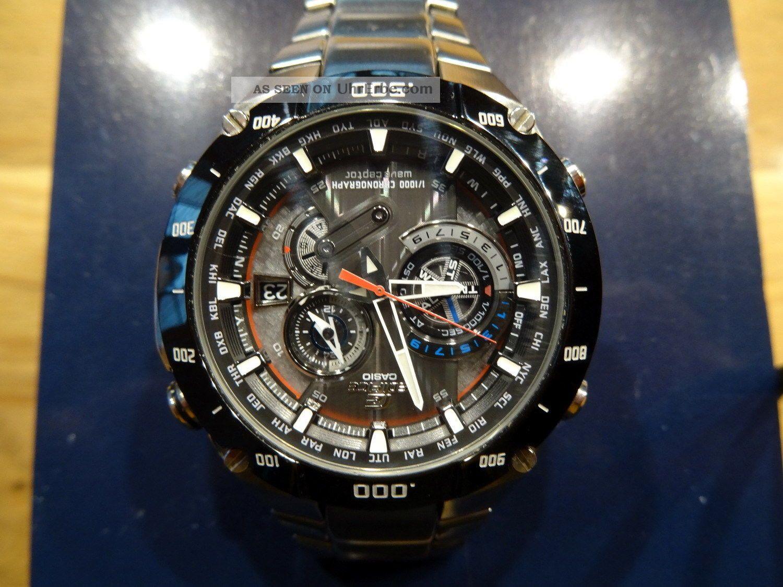 Casio Edifice Eqw - M1100db - 1aer Funk Solar Sehr Wenig Getragen Armbanduhren Bild