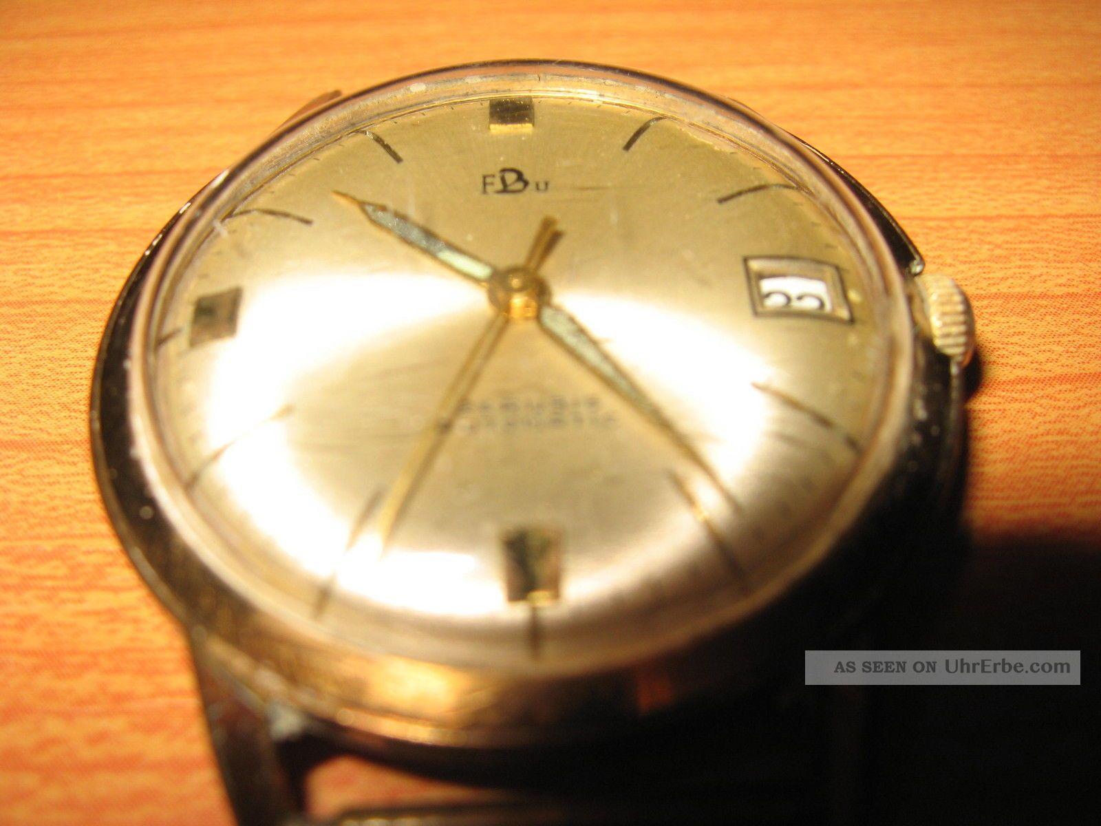 Fbu - Franz Burger - Alte Armbanduhr - 25 Rubine - Automatic Armbanduhren Bild