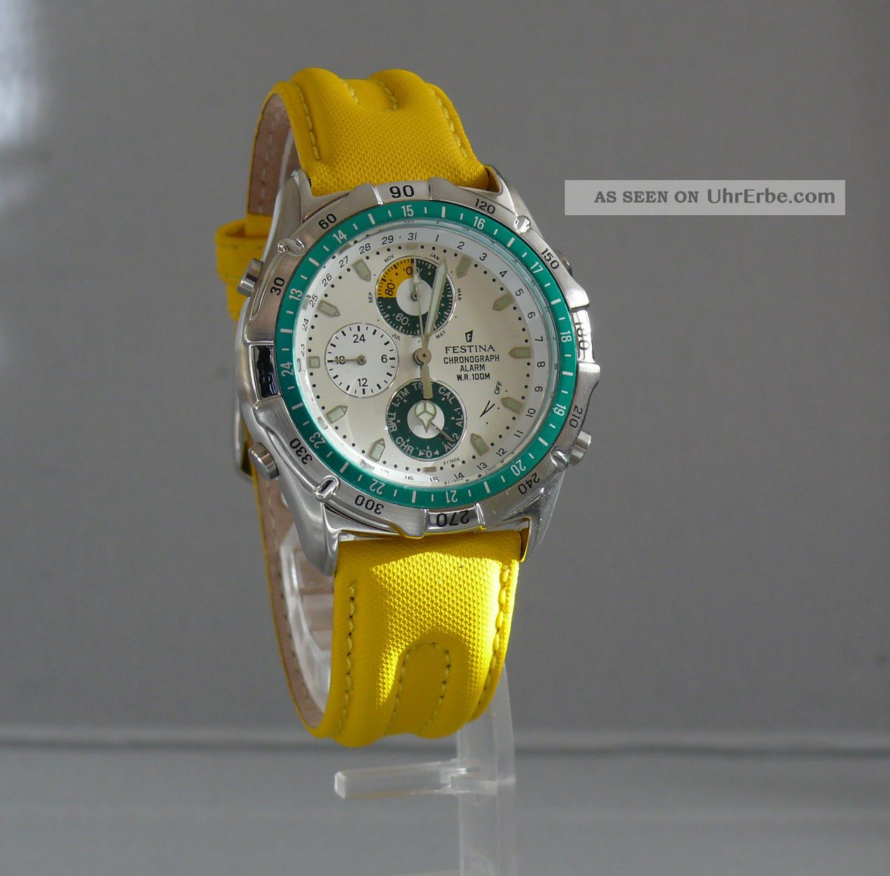 Festina Quarzchronograph Edelstahl Mit Weckfunktion (2.  Ur002 - 446) Armbanduhren Bild